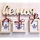 Интерьерные слова ручной работы. Ярмарка Мастеров - ручная работа. Купить Слово Семья с рамками для фото. Handmade. Слова из дерева