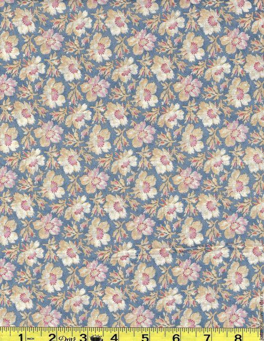Шитье ручной работы. Ярмарка Мастеров - ручная работа. Купить 1295 Остаток. Американская ткань. Handmade. Голубой, ткань с цветами