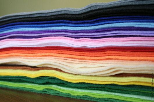 Валяние ручной работы. Ярмарка Мастеров - ручная работа. Купить МЯГКИЙ фетр 24 цвета. Handmade. Фетр, фетр для игрушек