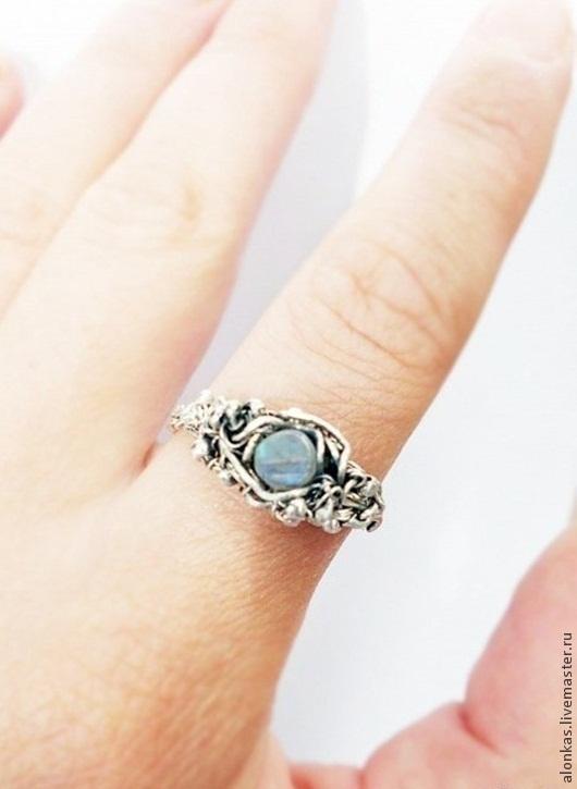 """Кольца ручной работы. Ярмарка Мастеров - ручная работа. Купить Кольцо """"Лунный свет"""" Серебро, лунный камень. Handmade. wire"""