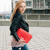 Сумки и аксессуары handmade. Livemaster - original item Red woman leather bag. Handmade.