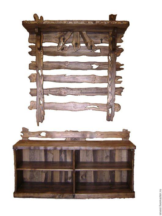 Прихожая ручной работы. Ярмарка Мастеров - ручная работа. Купить мебель для прихожей под старину. Handmade. Коричневый, под старину
