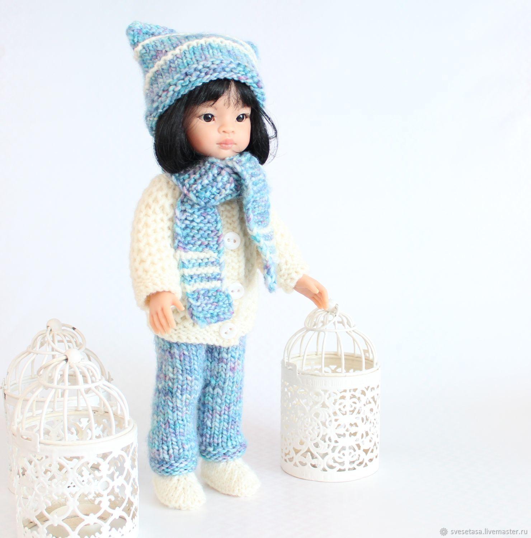 """Комплект вязаной одежды """"Снеговик"""" для куклы Paola Reina, Одежда для кукол, Челябинск,  Фото №1"""