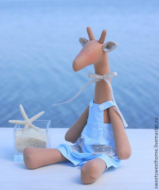 Куклы Тильды ручной работы. Ярмарка Мастеров - ручная работа. Купить Жираф тильда. Handmade. Голубой, жирафы, морской, море