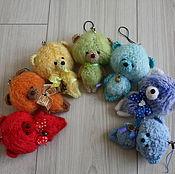"""Мягкие игрушки ручной работы. Ярмарка Мастеров - ручная работа ! Вязаные медвежата """"Коллекция Радуга"""". Handmade."""