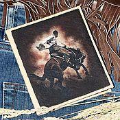 """Сумки и аксессуары ручной работы. Ярмарка Мастеров - ручная работа Визитница """"Wild, Wild West"""". Handmade."""