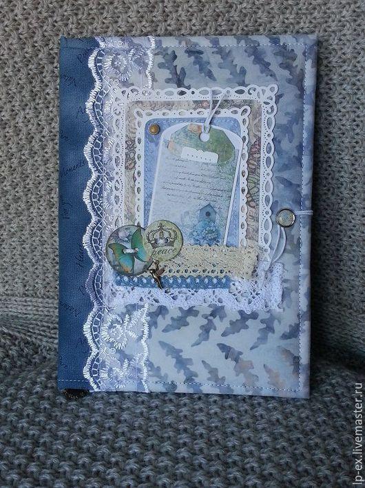 Блокноты ручной работы. Ярмарка Мастеров - ручная работа. Купить Женский блокнот Весеннее настроение. Handmade. Голубой, картон