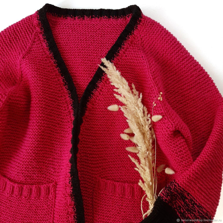 Вязаный кардиган на осень, женский вязаный кардиган, Кардиганы, Москва,  Фото №1