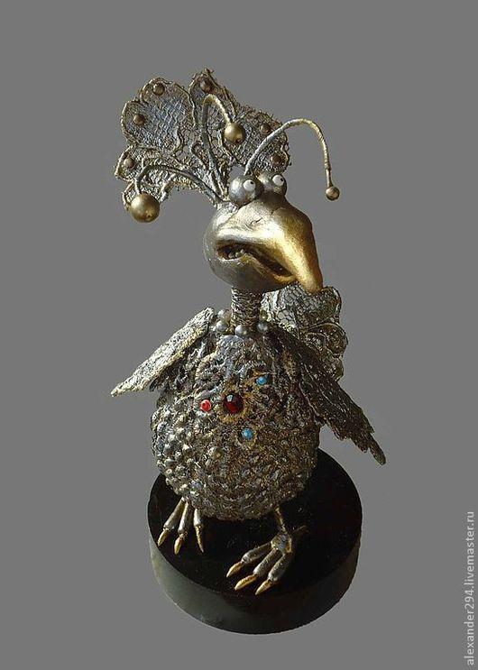 Статуэтки ручной работы. Ярмарка Мастеров - ручная работа. Купить Райская птичка. Handmade. Птица, сувенир, кружева