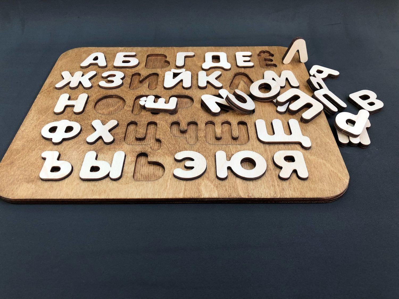 Развивающие игрушки ручной работы. Ярмарка Мастеров - ручная работа. Купить Пазл-Алфавит. Handmade. Алфавит, развивающий набор, масло