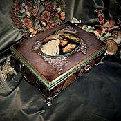 Для дома и интерьера ручной работы. Ярмарка Мастеров - ручная работа Большая шкатулка «Королевские павлины». Handmade.