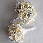 Свадебный салон handmade. Livemaster - original item kit! White brooch bouquet and bouquet understudy. Handmade.