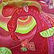 """Шарфы и шарфики ручной работы. Шелковый шарф """"Daiquiri Strawberry"""" . Батик.. Анна Агалина. Ярмарка Мастеров. Клубничный, коктейль"""