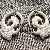 Украшения handmade. Livemaster - original item Earrings of bone combs. Handmade.