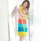 Одежда handmade. Livemaster - original item Linen shirt dress rose and Cocoa. Handmade.