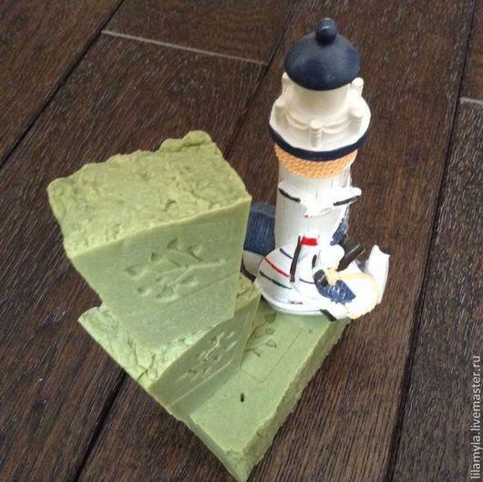 Мыло ручной работы. Ярмарка Мастеров - ручная работа. Купить Марсельское N1 Морские водоросли и кедр легкое освежающее. Handmade.