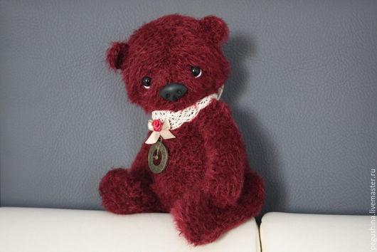 """Мишки Тедди ручной работы. Ярмарка Мастеров - ручная работа. Купить Вязаный медвежонок """"Тайми"""". Handmade. Бордовый, синтепон"""