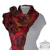 Аксессуары ручной работы. Ярмарка Мастеров - ручная работа Валяный шарф Задумчивая осень валяный палантин. Handmade.