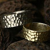 Свадебный салон ручной работы. Ярмарка Мастеров - ручная работа Обручальные кольца с текстурой и отпечатком пальца. Handmade.