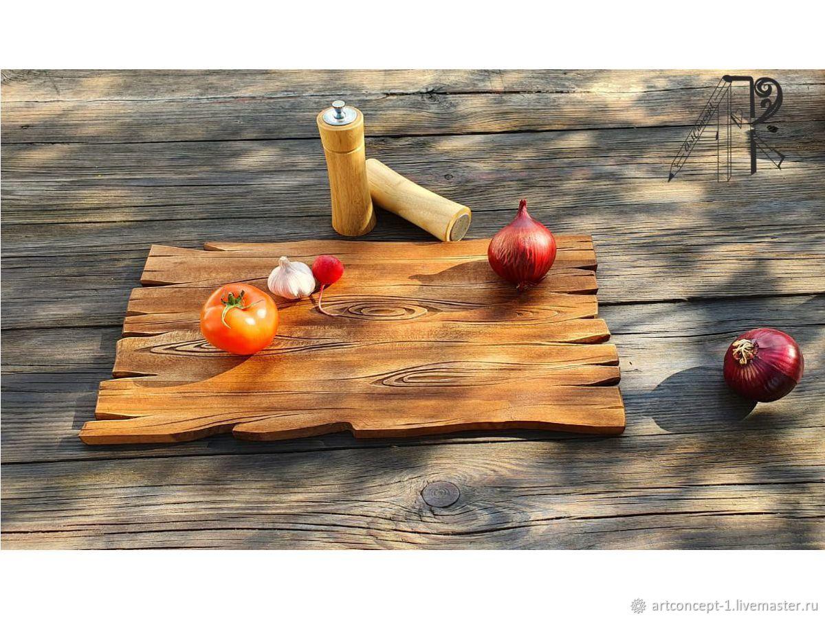 The decorative carved wooden tray. Cutting Board for feeding, Trays, Ryazan,  Фото №1