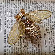 """Украшения ручной работы. Ярмарка Мастеров - ручная работа брошь """"Пчела"""". Handmade."""