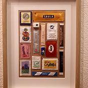 Картины и панно ручной работы. Ярмарка Мастеров - ручная работа Сахарные пакетики в рамке. Handmade.