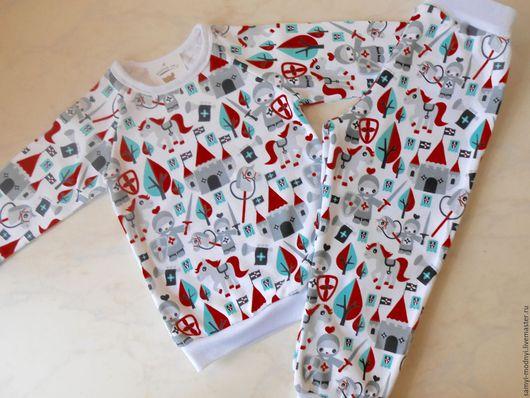 """Одежда для мальчиков, ручной работы. Ярмарка Мастеров - ручная работа. Купить Пижама детская """"Рыцарская"""". Handmade. Комбинированный, рыцари, трикотаж"""