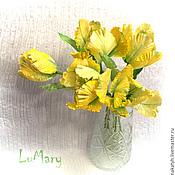 """Цветы и флористика ручной работы. Ярмарка Мастеров - ручная работа Букет """"Желтые тюльпаны"""". Handmade."""