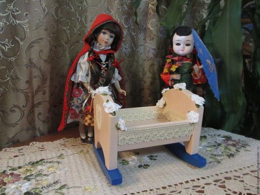 """Кукольный дом ручной работы. Ярмарка Мастеров - ручная работа. Купить Кукольная кроватка """"Люлечка для лялечки"""". Handmade. Комбинированный"""
