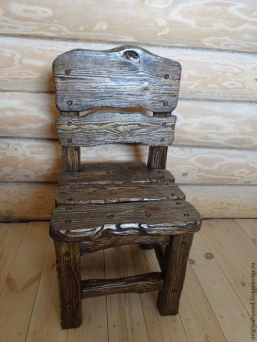 Экстерьер и дача ручной работы. Ярмарка Мастеров - ручная работа. Купить стулья табуретки. Handmade. Состаренное дерево, стул