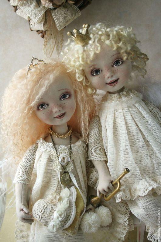 Коллекционные куклы ручной работы. Ярмарка Мастеров - ручная работа. Купить Куклы ангелы.Текстильные куклы Мари и Мигель.. Handmade.