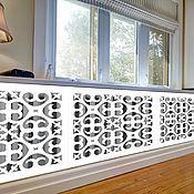 handmade. Livemaster - original item Wooden decorative grille for the radiator. Handmade.