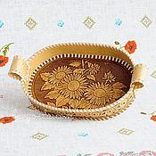 Русский стиль handmade. Livemaster - original item Plate from a birch bark