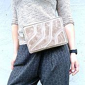 Сумки и аксессуары handmade. Livemaster - original item Waist bag, leather ice cube waist Bag, banana Bag. Handmade.
