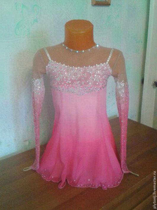 Спортивная одежда ручной работы. Ярмарка Мастеров - ручная работа. Купить Платье для фигурного катания. Handmade. Розовый, фигурное катание