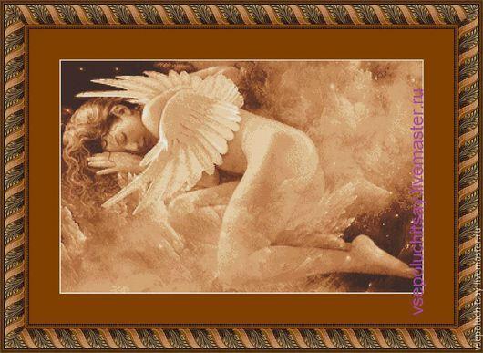 Вышивка ручной работы Ярмарка Мастеров Ручная работа Купить Схема для вышивки крестом Ангел. Handmade