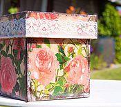 """Для дома и интерьера ручной работы. Ярмарка Мастеров - ручная работа Короб для трав """"Розы"""". Handmade."""