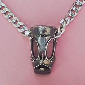 Фен-шуй и эзотерика ручной работы. Ярмарка Мастеров - ручная работа Подвеска DREADFUL MASK из серебра. Handmade.