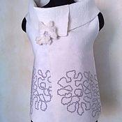 Одежда ручной работы. Ярмарка Мастеров - ручная работа Жилет- трансформер-перевертыш «Узоры на снегу ». Handmade.