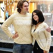 """Одежда ручной работы. Ярмарка Мастеров - ручная работа Пуловер и жакет из мериноса """"Сигулда"""". Handmade."""