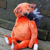 Куклы и игрушки ручной работы. Ярмарка Мастеров - ручная работа Лис тедди Иннокентий. Handmade.
