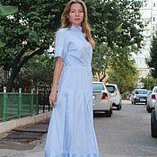 Одежда handmade. Livemaster - original item Gorgeous dress, striped. Handmade.