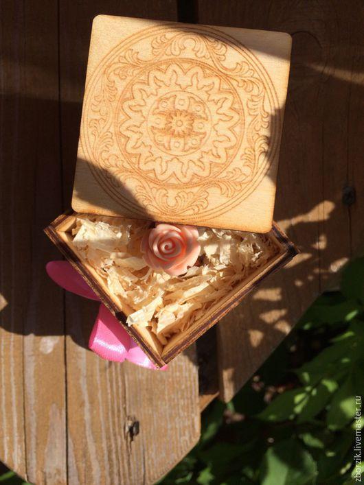 Кольца ручной работы. Ярмарка Мастеров - ручная работа. Купить Кольцо из бубинго с персиковой розой. Handmade. Подарок девушке