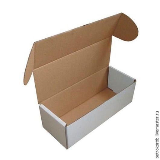Упаковка ручной работы. Ярмарка Мастеров - ручная работа. Купить Самосборная коробка 004 (10х4х4). Handmade. Белый, картонная коробка