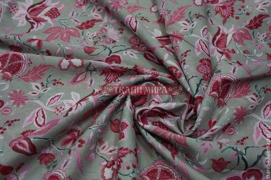 Шитье ручной работы. Ярмарка Мастеров - ручная работа. Купить Ткань сорочечная набив. 4010, 150 см, розовый. Handmade.