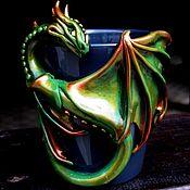 """Посуда ручной работы. Ярмарка Мастеров - ручная работа Кружка """"Изумрудный Дракон"""". Handmade."""
