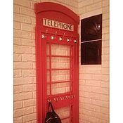 """Для дома и интерьера ручной работы. Ярмарка Мастеров - ручная работа Вешалка """"Лондонский телефон"""". Handmade."""
