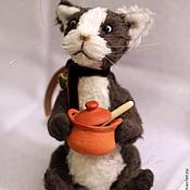 Куклы и игрушки ручной работы. Ярмарка Мастеров - ручная работа Тедди кот Бартоломью. Handmade.