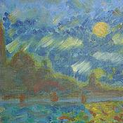 """Картины и панно ручной работы. Ярмарка Мастеров - ручная работа Картина """"Ночь"""". Handmade."""