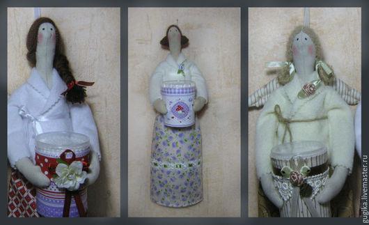 Куклы Тильды ручной работы. Ярмарка Мастеров - ручная работа. Купить хранительницы ватных палочек и  дисков. Handmade. Тильда